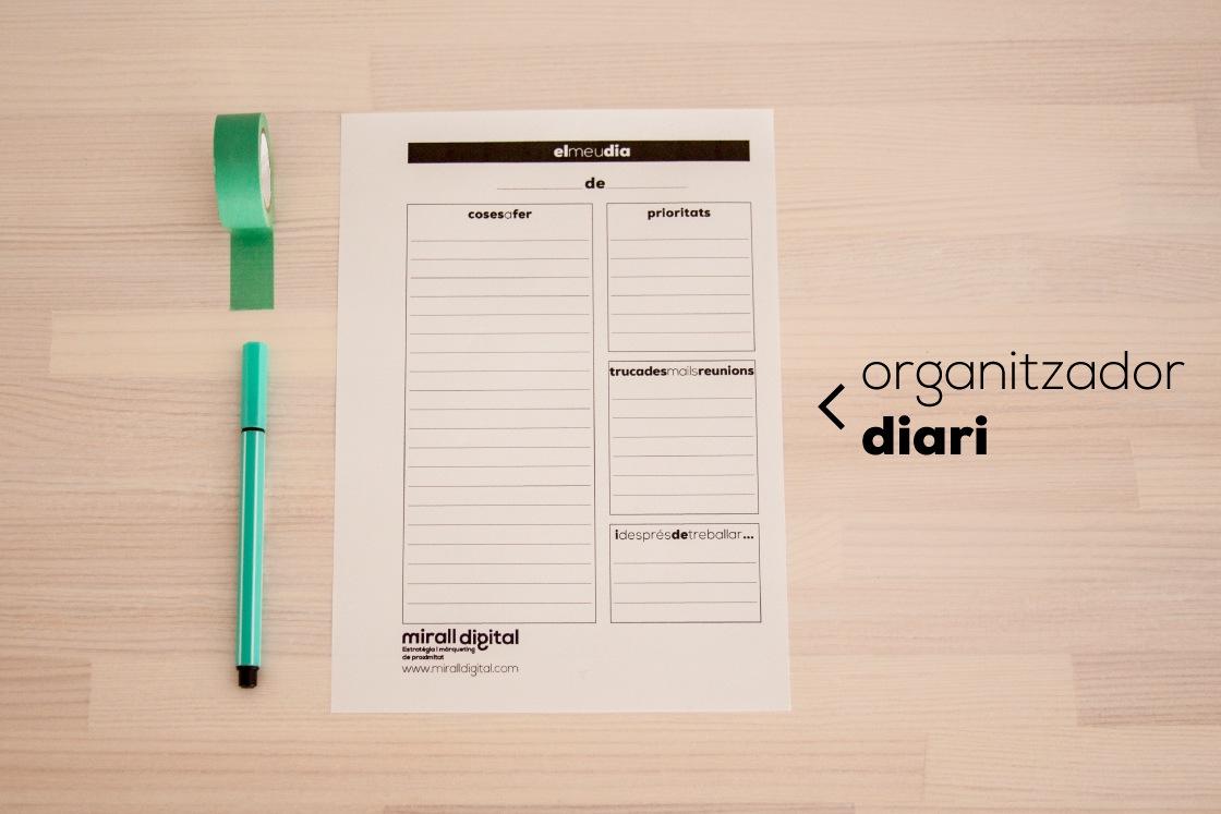 planners organitzador diari mirall digital marketing reus