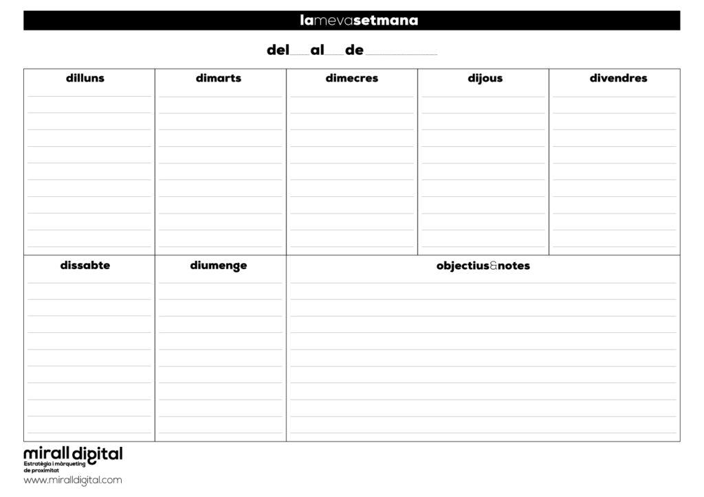planer setmanal semana català mirall digital