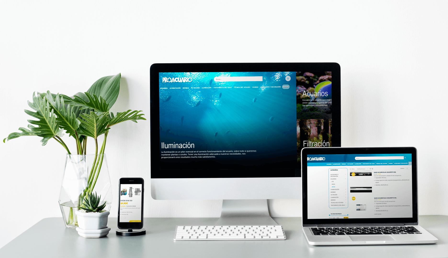diseño web acuarios
